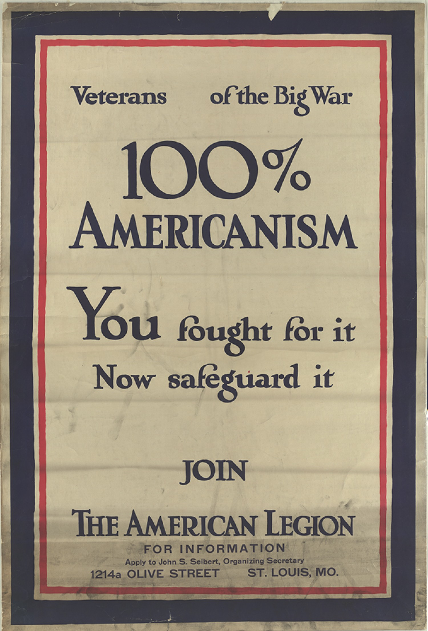 100 Americanism world war i poster collection   collections   missouri over